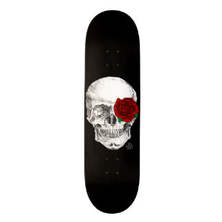 Rose Skull - Black Skate Boards