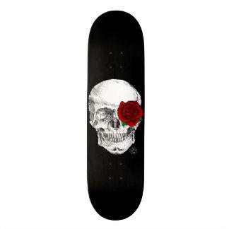 Rose Skull - Black Skateboard Deck