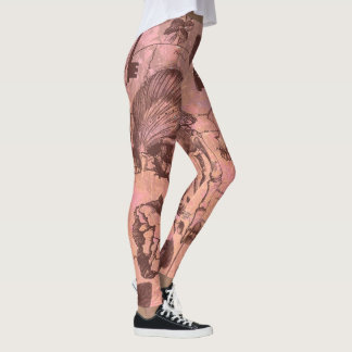 Rose Skull Collage Leggings