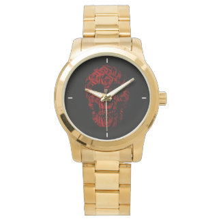 Rose Skull Gold Watch