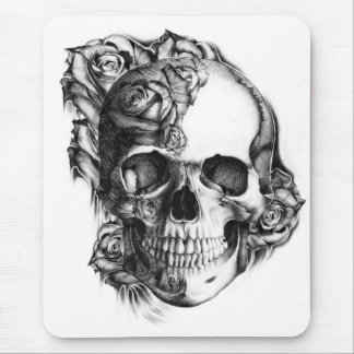 Rose Skull Mouse Pad