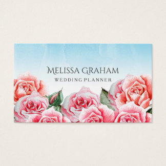 Rose Sky Wedding Planner Business Card