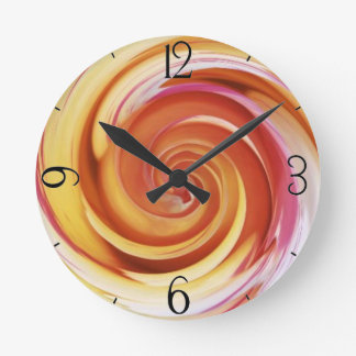 Rose Spiral Clock