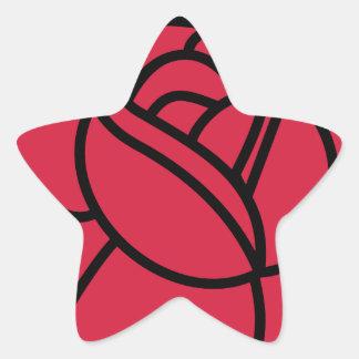 Rose Star Sticker