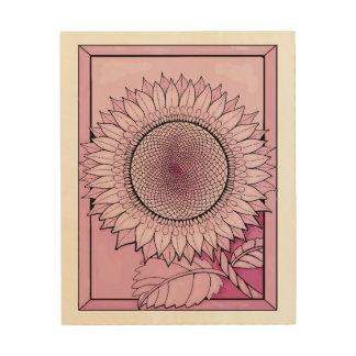 Rose Sunflower Wood Wall Decor
