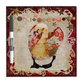 Rose Swan Radiant Red Twilight Dry Erase Board