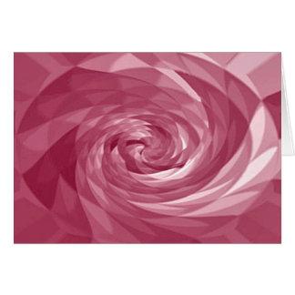 Rose Swirl Greeting Card