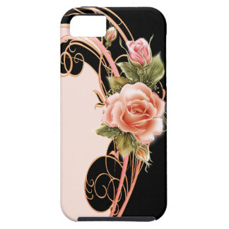 Rose Swirl Pink (PB) iPhone 5 Cover