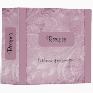 Rose Swirls Recipe Vinyl Binder
