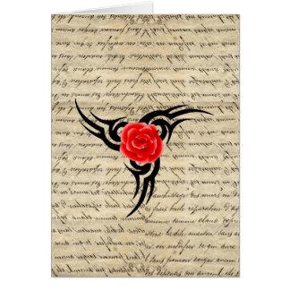 Rose Tattoo Card
