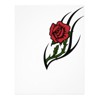 Rose tattoo customized letterhead