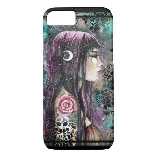 Rose Tattoo Gothic Bohemian Girl Fantasy Art iPhone 7 Case