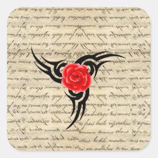 Rose Tattoo Square Sticker