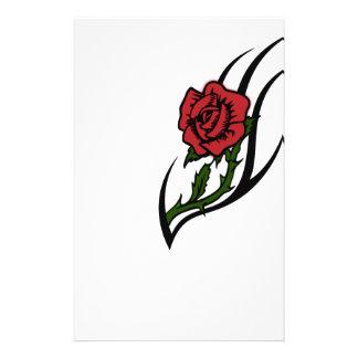 Rose tattoo stationery