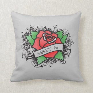 rose tattoo sweet 16 pillow