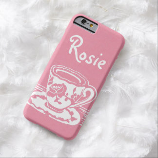 Rose Teacup Personalized iPhone 6 Case