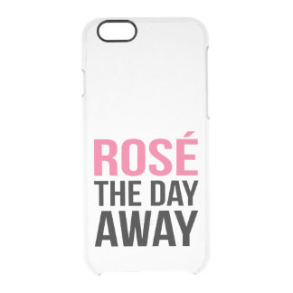 Rose the Day Away Clear iPhone Case