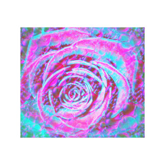 Rose through Water and Glass Abstract Design Canvas Print