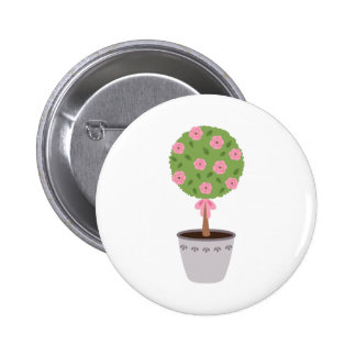 Rose Topiary 2 Inch Round Button