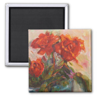 Rose Trio Painting Magnet