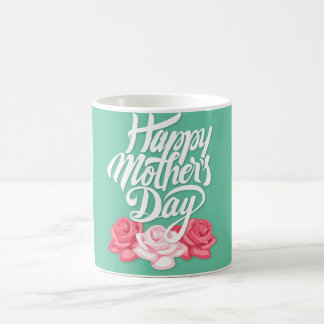 rose typography mother day coffee mug