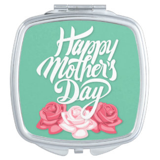 rose typography mother day mirrors for makeup