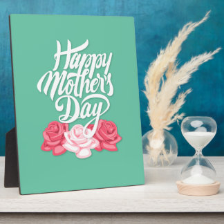 rose typography mother day plaque