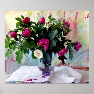 Rose Vase Still Life Print