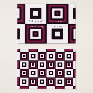 Rose Vertigo Checkerboard Illusion Business Card