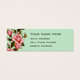 Rose Vine Skinny Mini Business Card