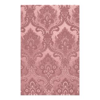 Rose vintage de motif de papier peint papier à lettre personnalisable