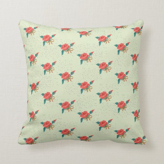 Rose vintage style pillow