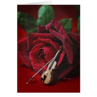 Rose & Violin card