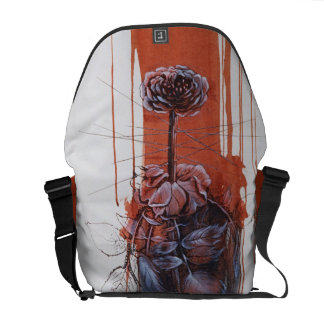 Rose w/Needles Messenger Bag