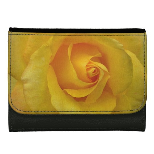 Rose Wallet Yellow Rose Flower Wallets Gifts