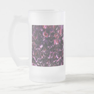 Rose Water Frosted Glass Beer Mug