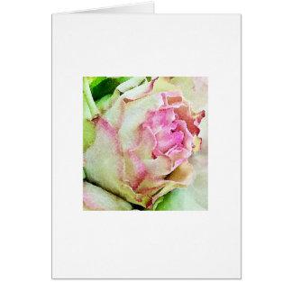 Rose Watercolor Art Print Note Card