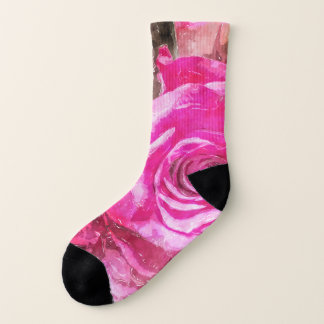 Rose Watercolour bywhacky  pinks socks