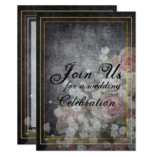 Rose Watermark on Slate Grey Card