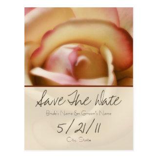 Rose Wedding Save the Date Postcard