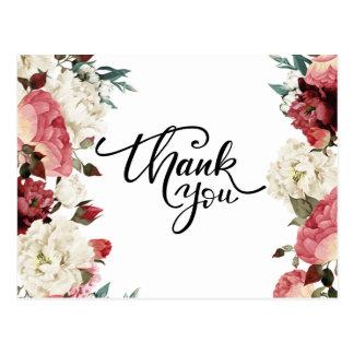 Rose Wedding Thank You Postcard
