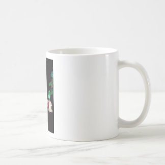Rose white blood red side coffee mug