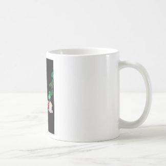 Rose white blood red side coffee mug