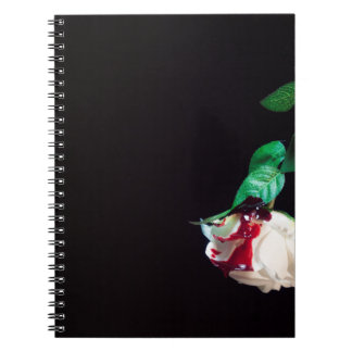 Rose white blood red side note book