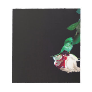 Rose white blood red side notepad
