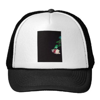 Rose white blood red side trucker hat