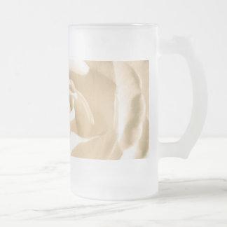 Rose White Glass Beer Mug