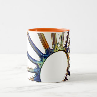 Rose window at the Sagrada Familia Two-Tone Coffee Mug