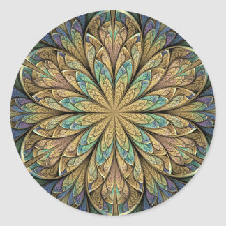 Rose Window Classic Round Sticker