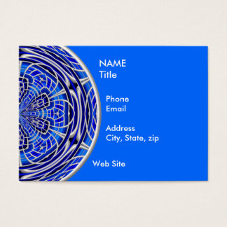 Rose Window Cobalt Business Card
